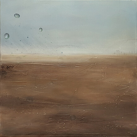 The Rain That Refreshes Parched Ground Is Made Up of Single Drops - Amanda Hewlett, Acrylic on canvas $2500