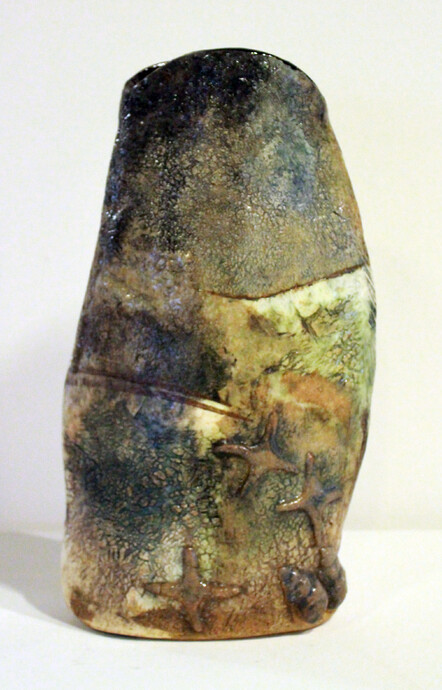 Landform by Kathryn Gates - stoneware and porcelain, $145