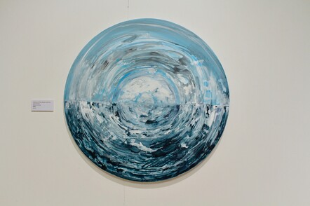 Caryl Murray, Colours of the Ocean and Sky, Acrylic on canvas, $550
