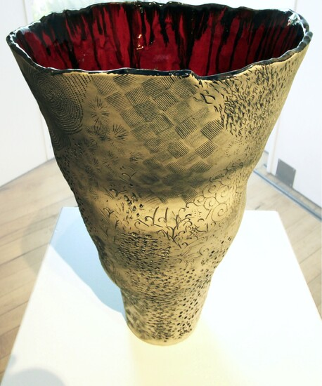 Ipu Signal Red - Maria Brockhill, Clay and glaze$900