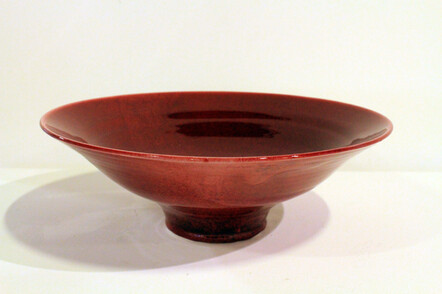 'Copper Red' pottery by New Zealand artist Barbara Nicholls