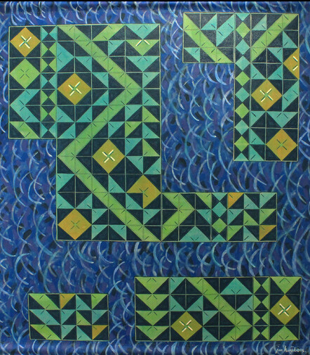 The Samoan Trochus by Jan Huijbers - acrylic on canvas, $2450