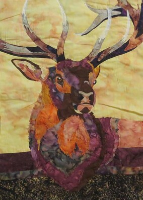 The Stag, quilt by Tanya Dobbin