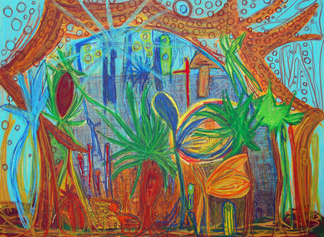 Garden Puddle - Myfanwy Morris, 26 yearsPaint pastel. $3600