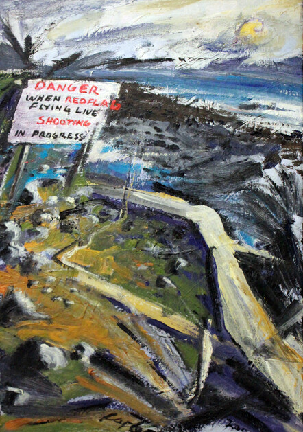 'No Man's Land' painting by New Zealand artist Alby Carter