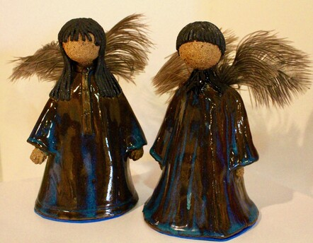 Christmas Messengers by Jan Pidwell. Pottery. $40 each