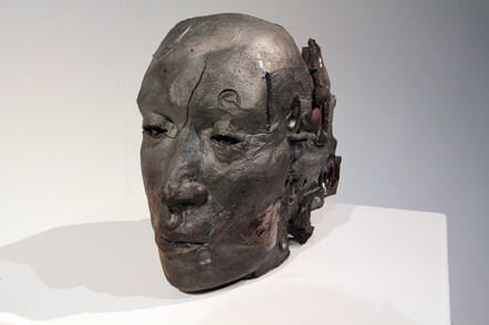 Ti Timatanga - Tracey Darren Keith, Raku fired ceramic — red clay from Australia $1850 SOLD