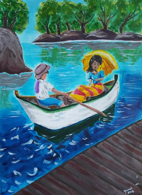 Love by the River - Lilyannah Yu, 17 yearsAcrylic. $120