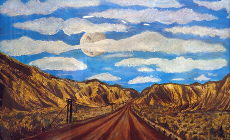 Long Road Ahead - Alexis Bright, 23 yearsAcrylic. $1000
