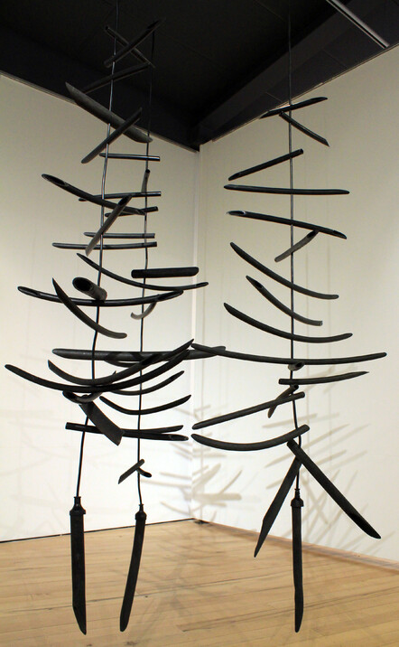 'Black Thorn' sculpture by New Zealand artist Claire Jensen
